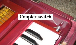 Harmonium - Coupler Switch
